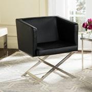 Willa Arlo Interiors Cammi Arm Chair; Black Bonded Leather