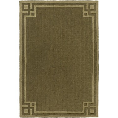 Mercer41 Lingle Hand-Loomed Olive Area Rug; 8' x 11'