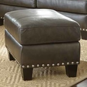 Mercer41  Lincoln Leather Ottoman