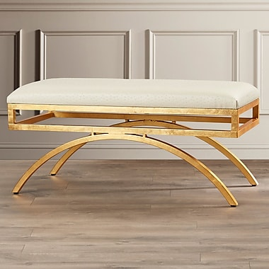 Willa Arlo Interiors Nikolas Leather Entryway Bench; Cream