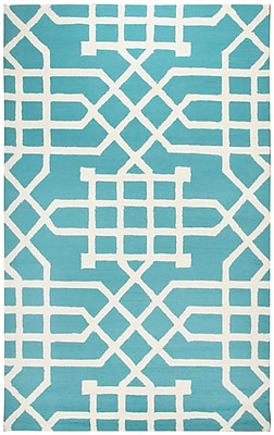 Mercer41 Angela Hand-Tufted Teal/Off White Indoor/Outdoor Area Rug; 3'6'' x 5'6''