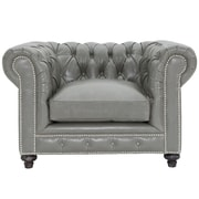 Willa Arlo Interiors Cateline Leather Chesterfield Chair