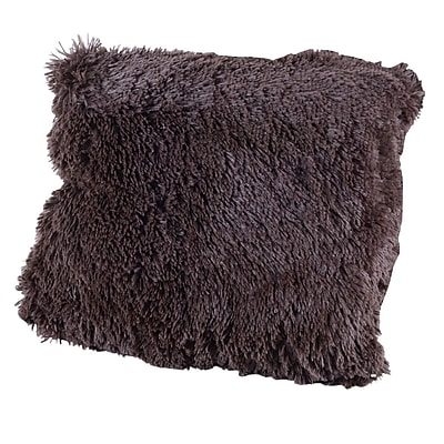 Willa Arlo Interiors Broughton Very Soft and Comfy Plush Faux fur Throw Pillow (Set of 2); Chocolate