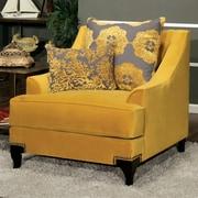 Mercer41  Shale Premium Arm Chair; Gold