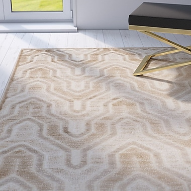Mercer41 Gabbro Caramel / Cream Area Rug; Runner 2'2'' x 8'