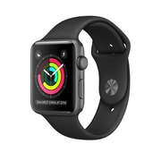Apple – Montre Apple Watch Series 2, 42 mm, boîtier en aluminium gris cosmique, bracelet sport noir (MP062CL/A)