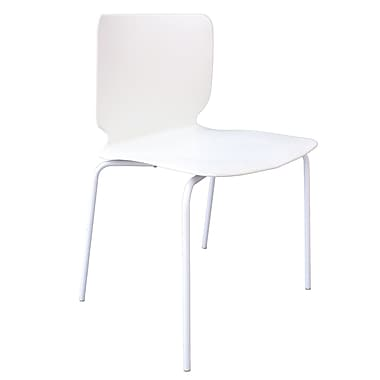 Cathay Importers – Fauteuil moderne Luisana, blanc, 4/pqt