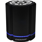 Enermax STEREOSGL EAS02S-BK Speaker System, 4 W RMS, Battery Rechargeable, Wireless Speaker(s), Black