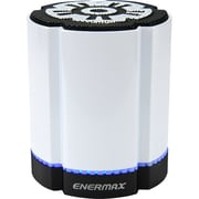 Enermax STEREOSGL EAS02S-W Speaker System, 4 W RMS, Battery Rechargeable, Wireless Speaker(s), White