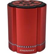 Enermax STEREOSGL EAS02S-R Speaker System, 4 W RMS, Battery Rechargeable, Wireless Speaker(s), Red