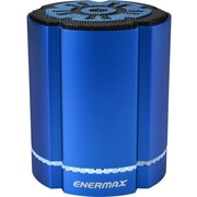 Enermax STEREOSGL EAS02S-BL Speaker System, 4 W RMS, Battery Rechargeable, Wireless Speaker(s), Blue