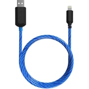 TAMO Charge n' Glow Light Up MFI Certified Charging Cables, Lightning, 3ft, Blue