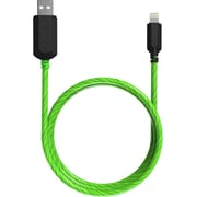 TAMO Charge n' Glow Light Up MFI Certified Charging Cables, Lightning, 3ft, Green