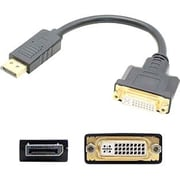 AddOn 5-Pack of Lenovo 45J7915 Compatible 8in DisplayPort 1.2 to DVI-I (29 pin) Male to Female Black Adapter Cables