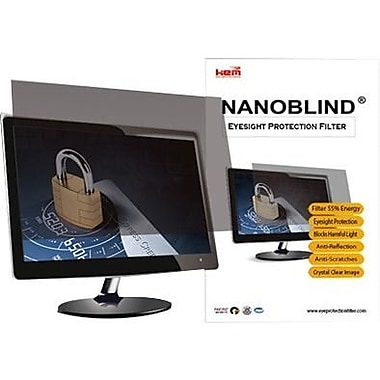 NanoBlind Privacy Screen Filter Crystal Clear, Matte Black