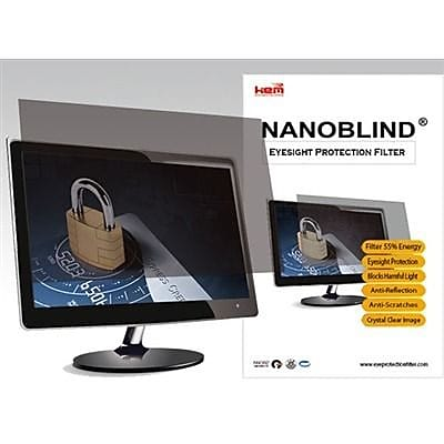 NanoBlind Privacy Screen Filter Crystal Clear, Matte (NB24W-A)
