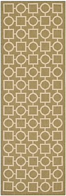 Mercer41 Olsene Green/Beige Indoor/Outdoor Area Rug; Runner 2'3'' x 6'7''