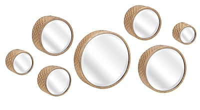 Mercer41 7 Piece Round Metal Wall Mirror Set