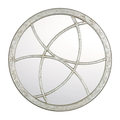 Mercer41 Round Silver Quartz Decorative Mirror