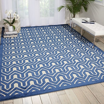 Mercer41 Beaconsfield Ivory/Blue Area Rug; 7'9'' x 10'10''