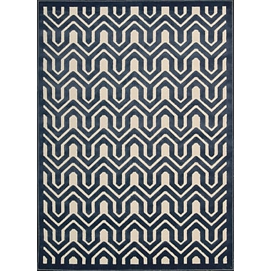 Mercer41 Beaconsfield Ivory/Blue Area Rug; 3'6'' x 5'6''