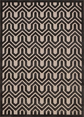 Mercer41 Beaconsfield Charcoal/Ivory Area Rug; 3'6'' x 5'6''