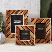 World Menagerie 3 Piece Striped Wood Picture Frame Set