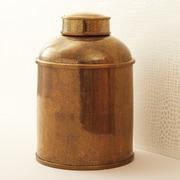 World Menagerie Shagreen Glazed Tea Canister