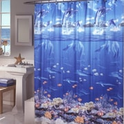 Zoomie Kids Ryann Vinyl Sea Life Shower Curtain