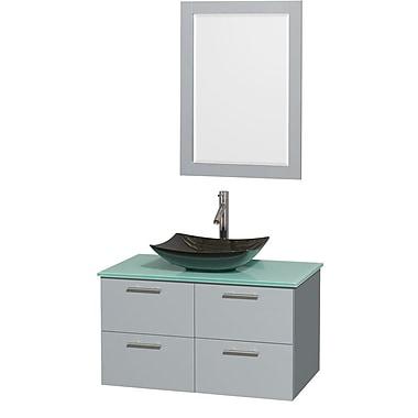 Wyndham Collection Amare 36'' Single Bathroom Vanity Set w/ Mirror
