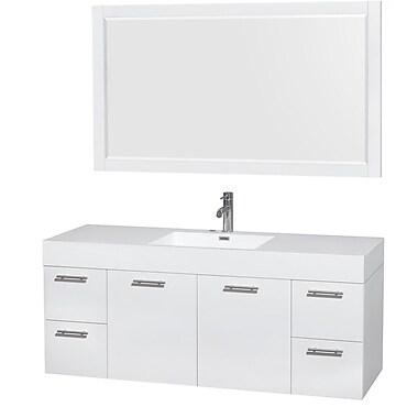 Wyndham Collection Amare 60'' Single Bathroom Vanity Set w/ Mirror
