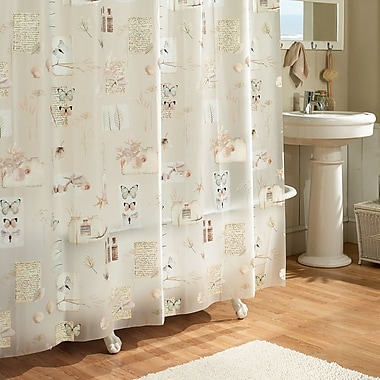 August Grove Janey Natures Moments 100pct PEVA Shower Curtain