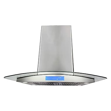 Cosmo 30'' 900 CFM Ducted Island Range Hood in Stainless Steel