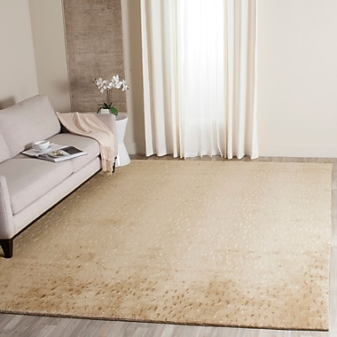 Mercer41 Glessite Hand-Knotted Beige Area Rug; 8' x 10'