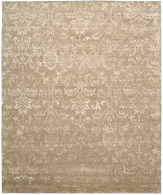 Rosdorf Park Brightwaters Hand-Knotted Light Gold Area Rug; 5'6'' x 7'5''