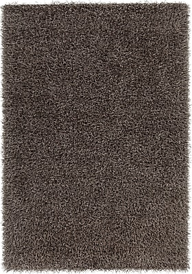 Mercer41 Heston Hand Woven Rectangle Contemporary Shag Dark Gray Area Rug; 5' x 7'6''