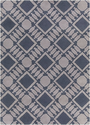 Mercer41 Erith Hand Tufted Rectangle Contemporary Gray Area Rug; 7' x 10'