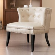 Mercer41  Berlare Shelter Side Chair; Ivory