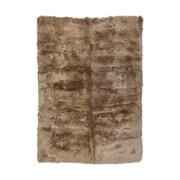 Mercer41  Spennymoor Sheepskin Longwool Taupe Rug; 3'11'' x 5'11''