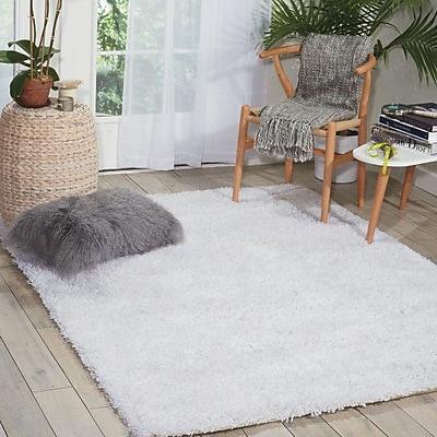 Willa Arlo Interiors Sky Hand-Tufted White Area Rug; 5' x 7'