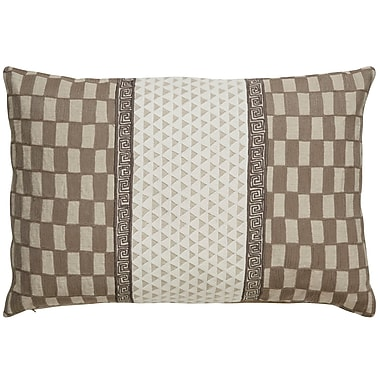 Bungalow Rose Brightwood Checker Linen Throw Pillow