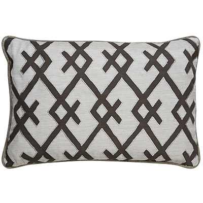 Bungalow Rose Brightwood Geometric Pattern Rectangular Throw Pillow