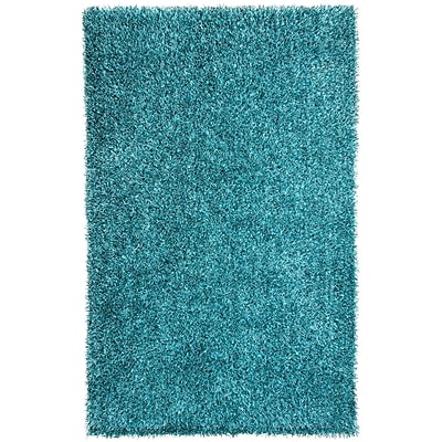 Mercer41 Woodside Smoke Blue Shag Area Rug; Rectangle 2' x 3'