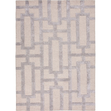 Willa Arlo Interiors Avery Silver Gray Geometric Area Rug; 2' x 3'