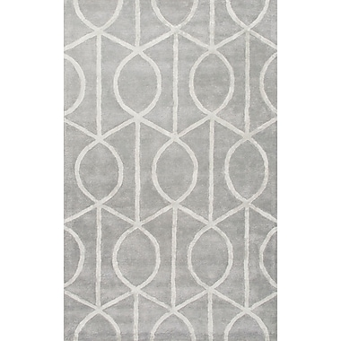 Willa Arlo Interiors Blondell Hand-Tufted Contemporary Blue Area Rug; 5' x 8'