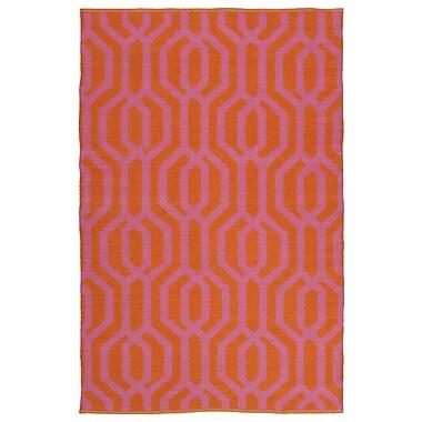 Willa Arlo Interiors Camillei Orange/Pink Indoor/Outdoor Area Rug; 8' x 10'
