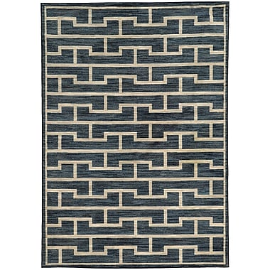 Willa Arlo Interiors Abbas Geometric Blue/Beige Area Rug; 7'10'' x 10'10''