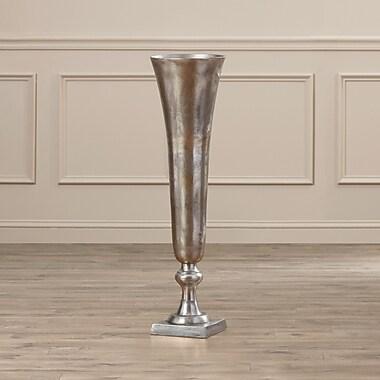 Rosalind Wheeler Aged Aluminum Vase; 26.5'' H x 7'' W x 7'' D