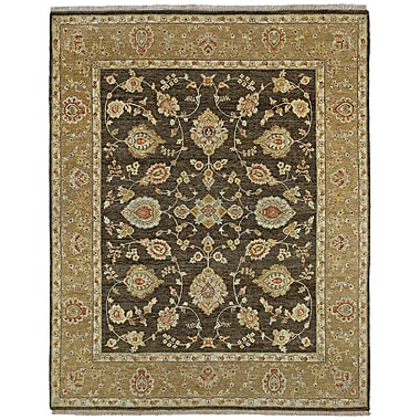 Astoria Grand Clarkston Hand-Knotted Chocolate Area Rug; 8' x 10'