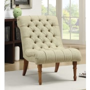 Astoria Grand Barnkine Tufted Side Chair; Yellow Green